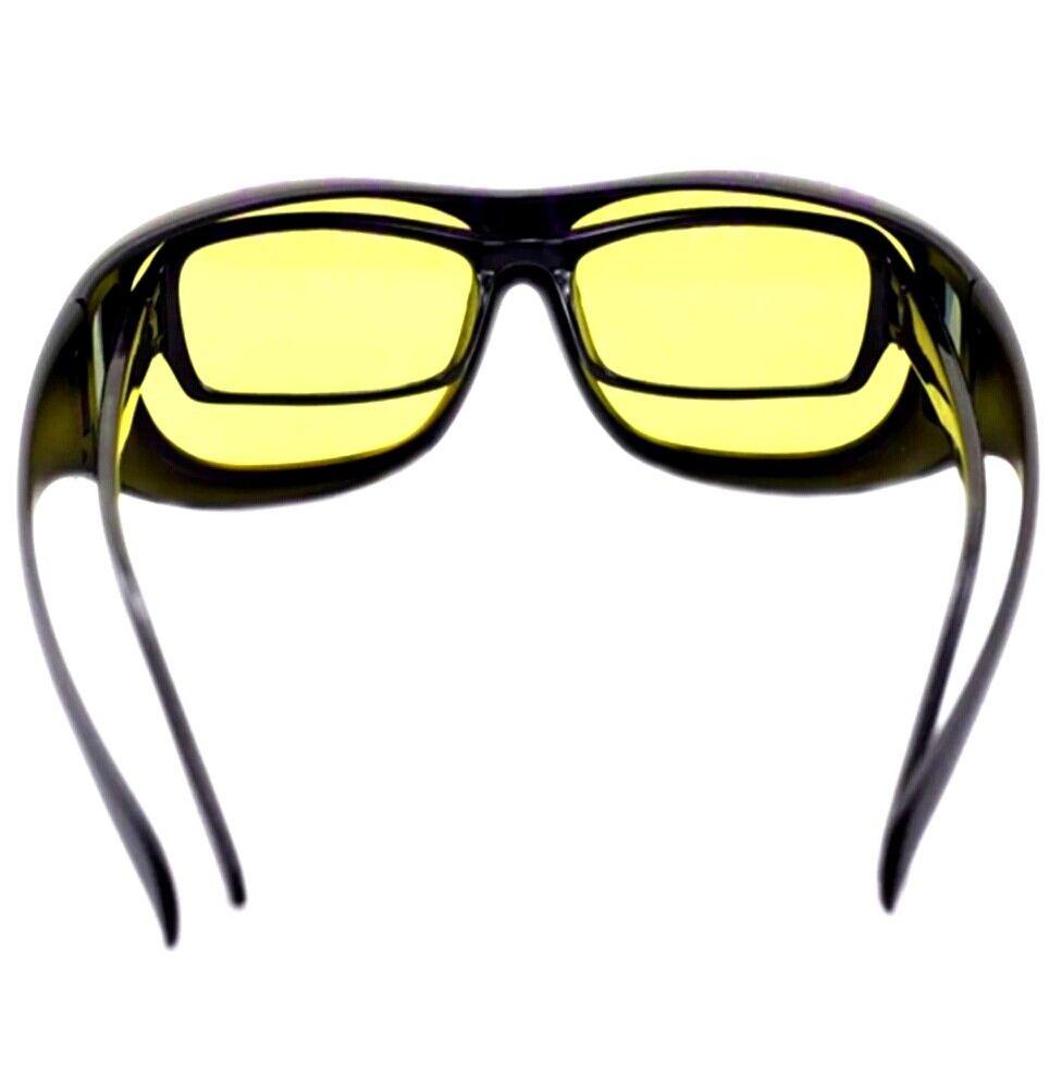 Nachtsichtbrille Sonnenbrille Überziehbrille Clip On Brille Vorhänger Nachtfahrt