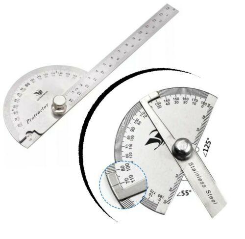 Edelstahl Winkellineal 180°Winkelmesser Messwerkzeug Gradmesser Schmiege-Li M5R3