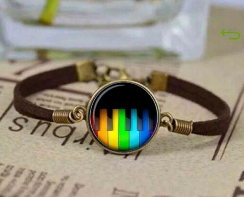 Lesbisch Musik Gay Schmuck Geschenkidee Klaviertasten Regenbogen Homo Armband pUqSzVM